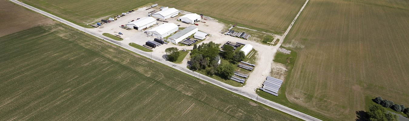 Aerial view of Country Supply trailer sales