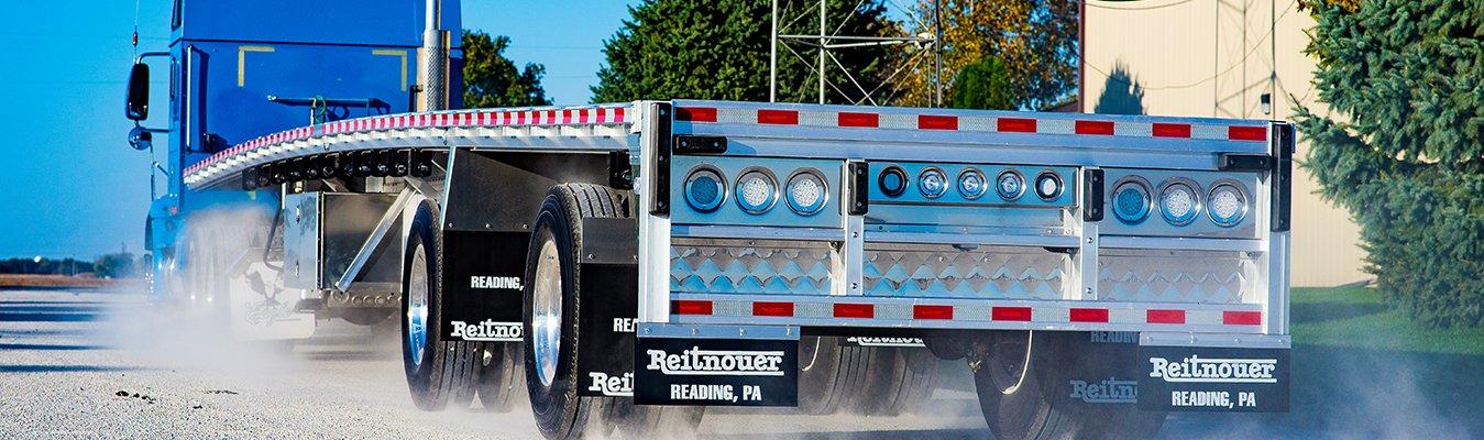 Reitnouer aluminum flatbed semi trailer